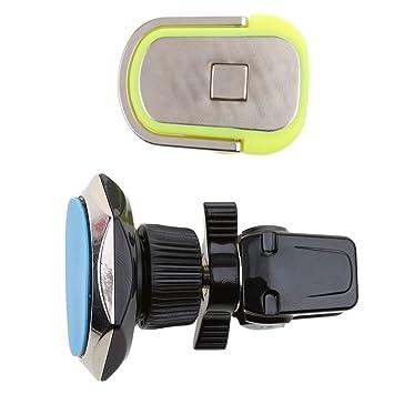 MagiDeal Universal Aire 360 Grados aireación Soporte del Soporte GPS para Móviles Coche Stare Gris