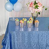 SoarDream Sequin Table Cloth Lavender 50x80 Glitter Table Decoration for Halloween Party Birthday