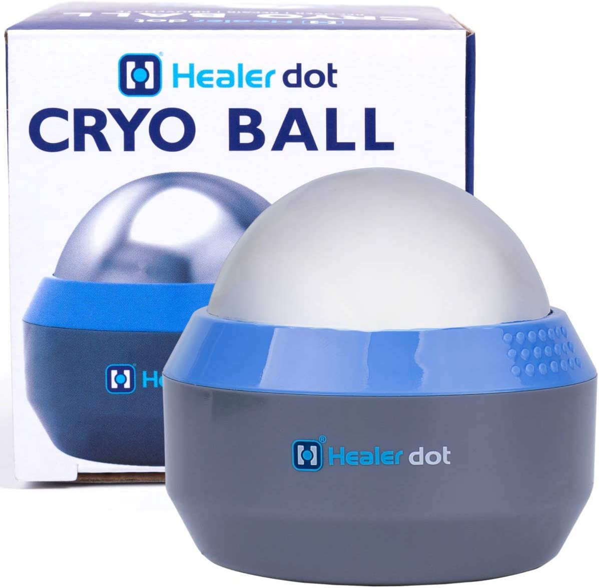 Healer dot Ice Muscle Fitness Roller – Deep Tissue Cold Massage Ball – Cold Gel Core – Reduces Inflammation & Swelling – Convenient & User-Friendly – Rapid Workout Recovery – Portable Design