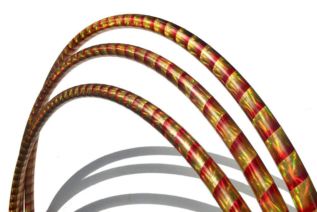 Spin Majik Miniature Juggling Hula Hoops for Dance (Gold & Red)