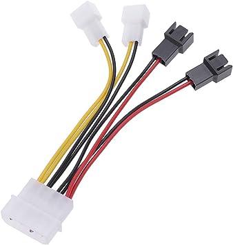1Pc CPU 4 Pin a 3 Pin Cables de extensión del Ventilador Adaptador ...