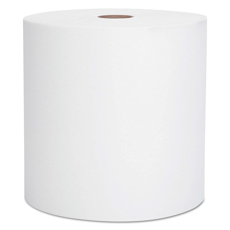 "Scott 02000 Hard Roll Towels, 1.75"" Core, 8 x 950ft, 1 3/4"" Core, White (Case of 6 Rolls)"