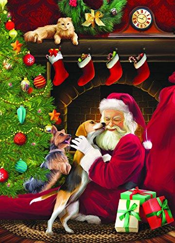 Santa's Kisses (Large Piece) 500 Piece Jigsaw Puzzle by SunsOut