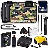 Nikon COOLPIX W300 Digital Camera (Camouflage) International Model + EN-EL12 Replacement Lithium Ion Battery + 32GB SDHC Class 10 Memory Card + SD Card USB Reader + Nikon Floating Strap Bundle