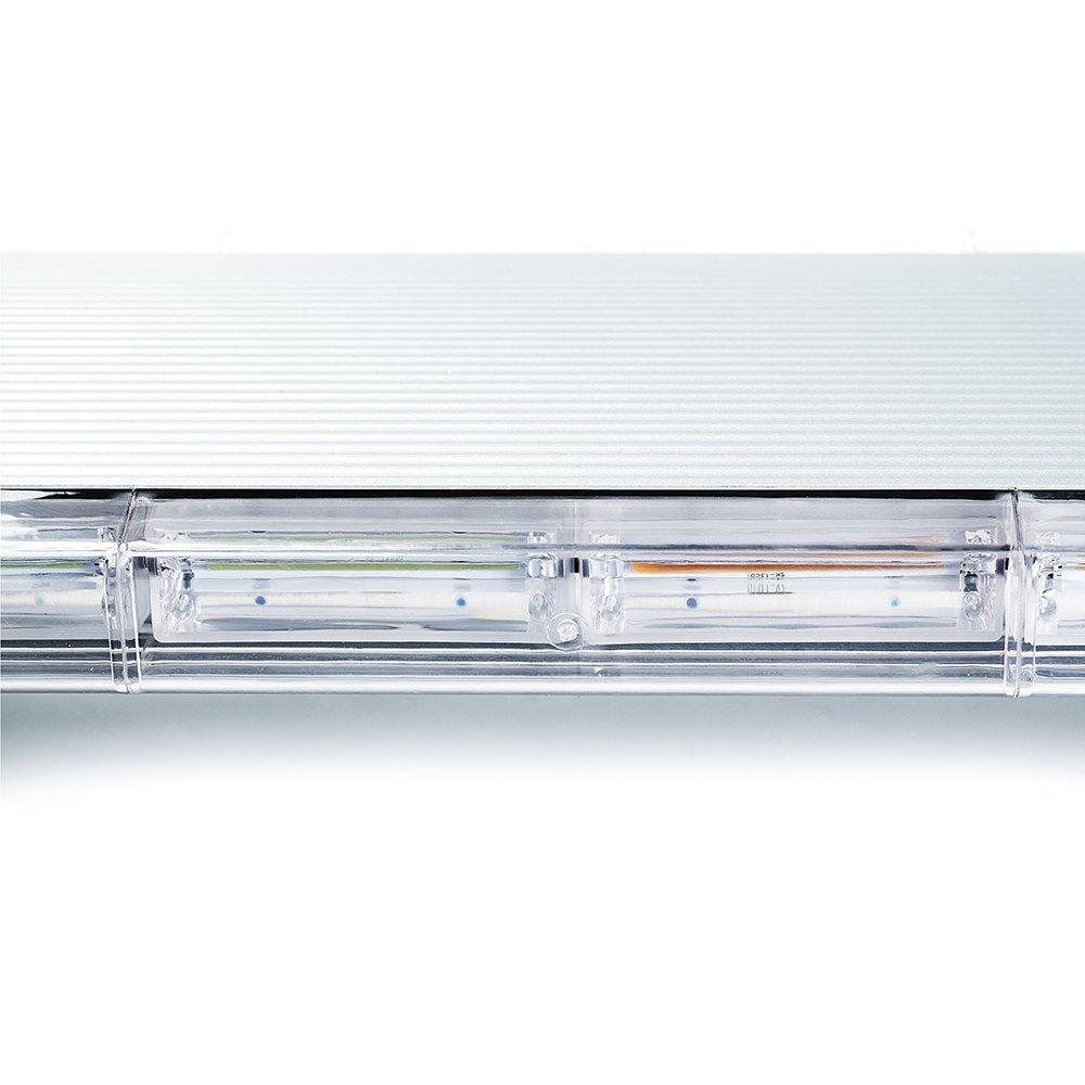 Xprite Amber//Yellow 88 LED 220W 47 COB High Intensity 28 Modes Super Bright Top Roof Strobe Light Bar