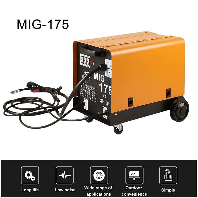 Funnyrunstore MIG-175 Monofásico Ventilador de Enfriamiento Portátil Alambre Estable Máquina de Soldadura Apantallada a Gas Para Soldadura Enchufe de la UE: ...