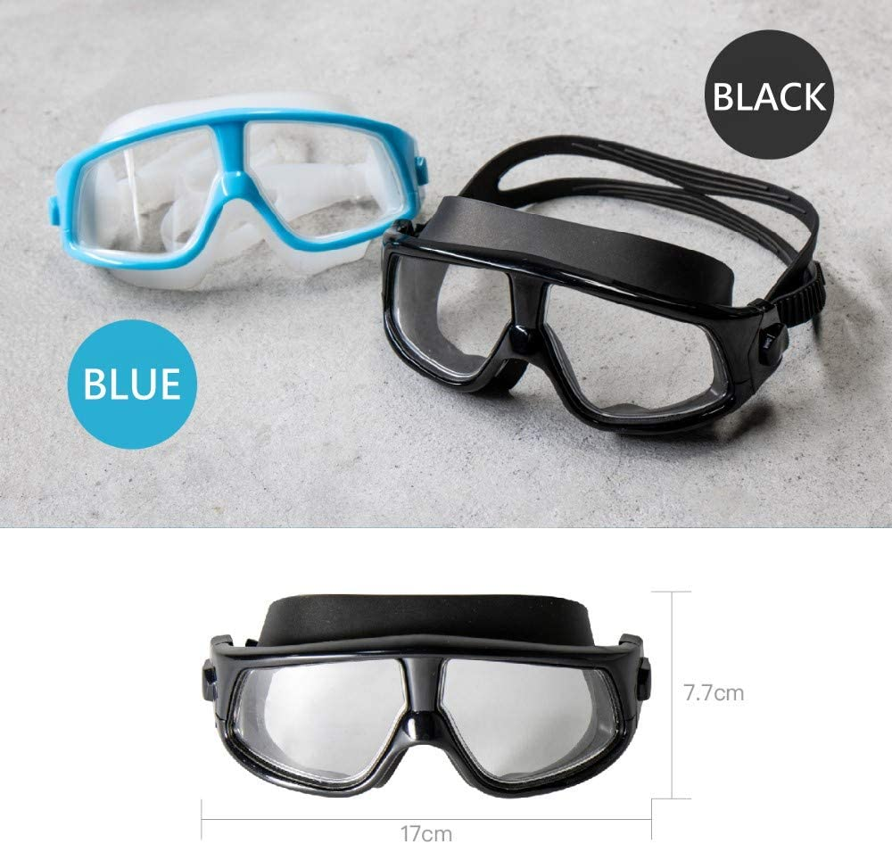 Snorkeling and Free Diving Snorkel Dive Mask with Silicone Skirt and Strap for Scuba Diving LAQ DESiGN Anti-Fog Panoramic Wide View Mask