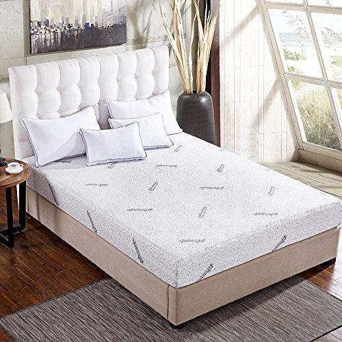 Comfort & Relax Memory Foam Mattress with Gel-infused AirCell Tech, Bamboo Fabric Cover, 10 KING
