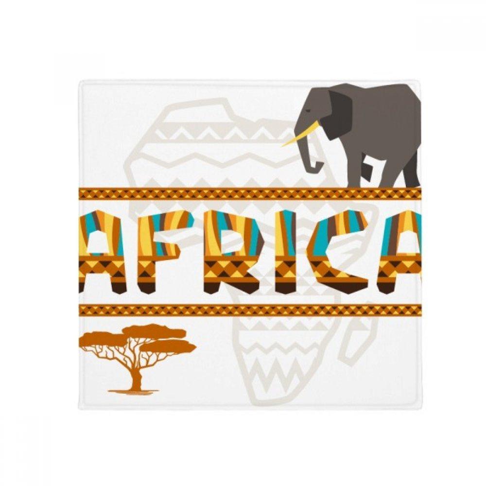 DIYthinker Africa Map Elephant African Savanna Anti-Slip Floor Pet Mat Square Home Kitchen Door 80Cm Gift