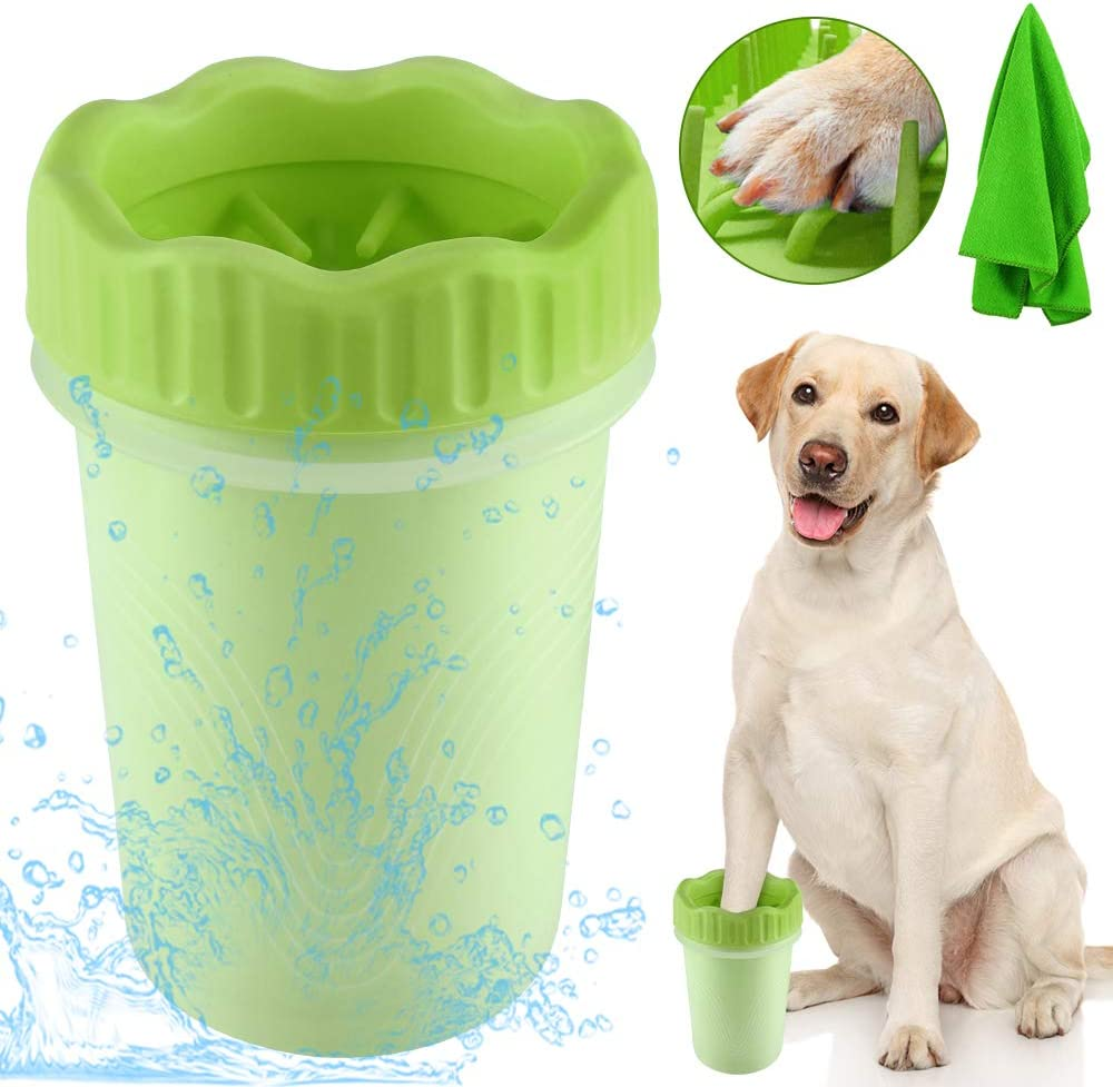 TTCOTOKE Limpiador de Pata de Perro de Paw Mascota portátil Limpiador Lavado de pies Copa para Mascotas