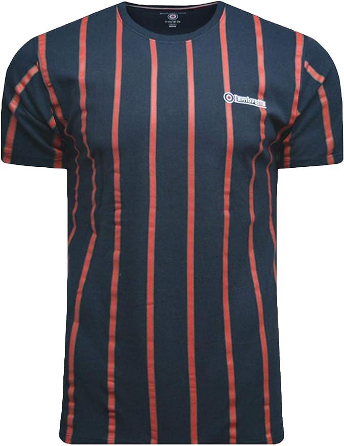 Lambretta - Camiseta de Manga Corta para Hombre, diseño de Rayas, Tallas S- 4XL: Amazon.es: Ropa y accesorios