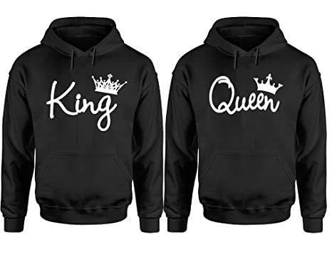 403f80e2f8b Amazon.com  King And Queen Hoodies For Couples