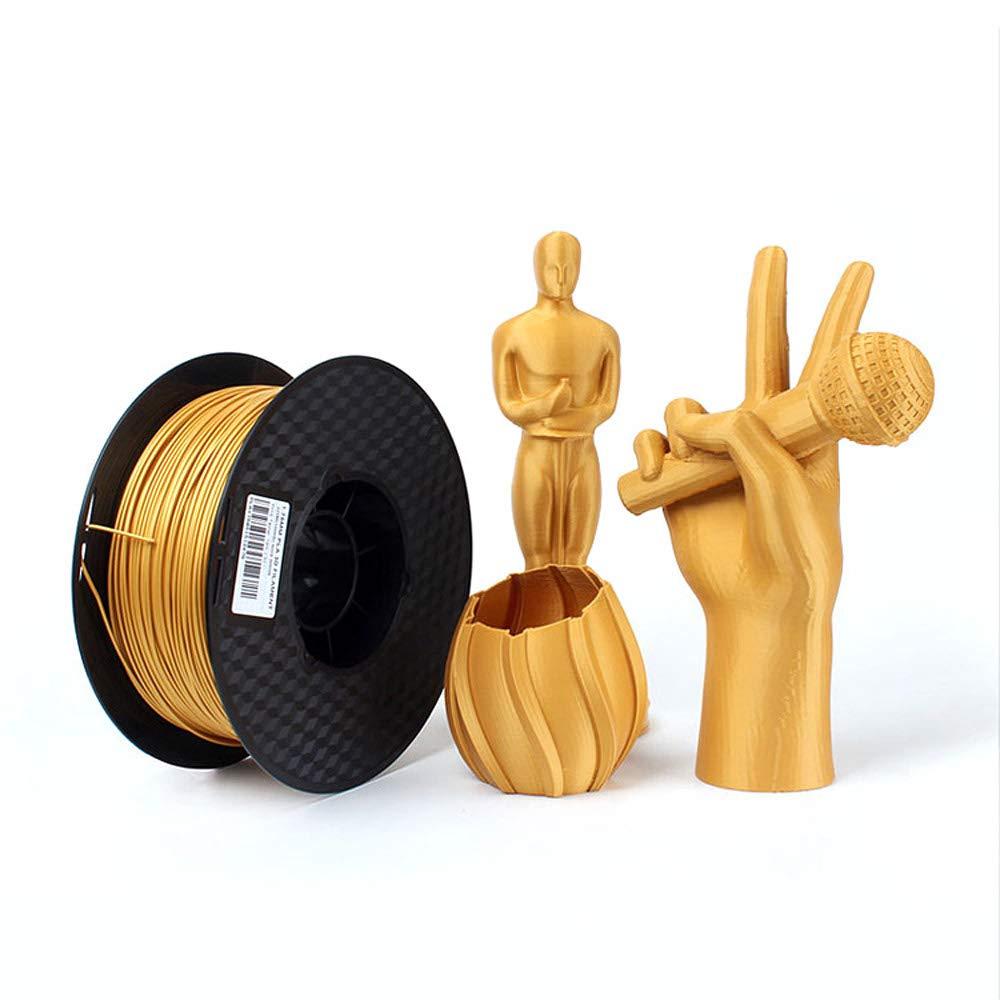 Filamento PLA de metal para impresora 3D, 1,75 mm, color dorado ...