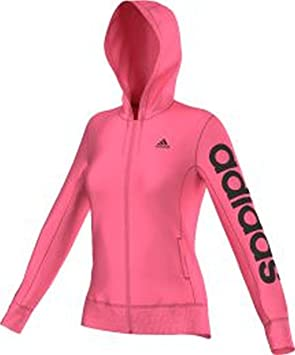 adidas Sweat à Capuche pour Femme Essentials brossé Linear