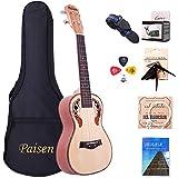 Paisen Concert Ukulele 23 inch Hawaii Spruce Ukuleles with Tuner Capo Gig Bag Full set accessory for Ukelele Beginners Kid Ad