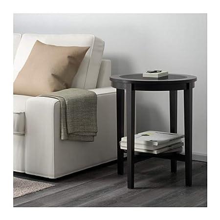 Ikea Malmsta 802.611.83 - Mesa Auxiliar, Color Negro y marrón ...