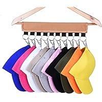 SAMIRAU Cap Organizer Hanger, 10 Baseball Cap Holder, Hat Organizer for Closet - Change Your Cloth Hanger to Cap…