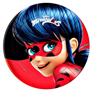 Pack 10 Platos Fiesta Prodigiosa Ladybug: Amazon.es ...