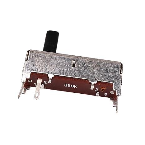 Sharplace Potenciómetro de Guitarra Eléctrica Interruptor Selector Pedal Efectos Guitarra Eléctrica 36mm B50K OHM