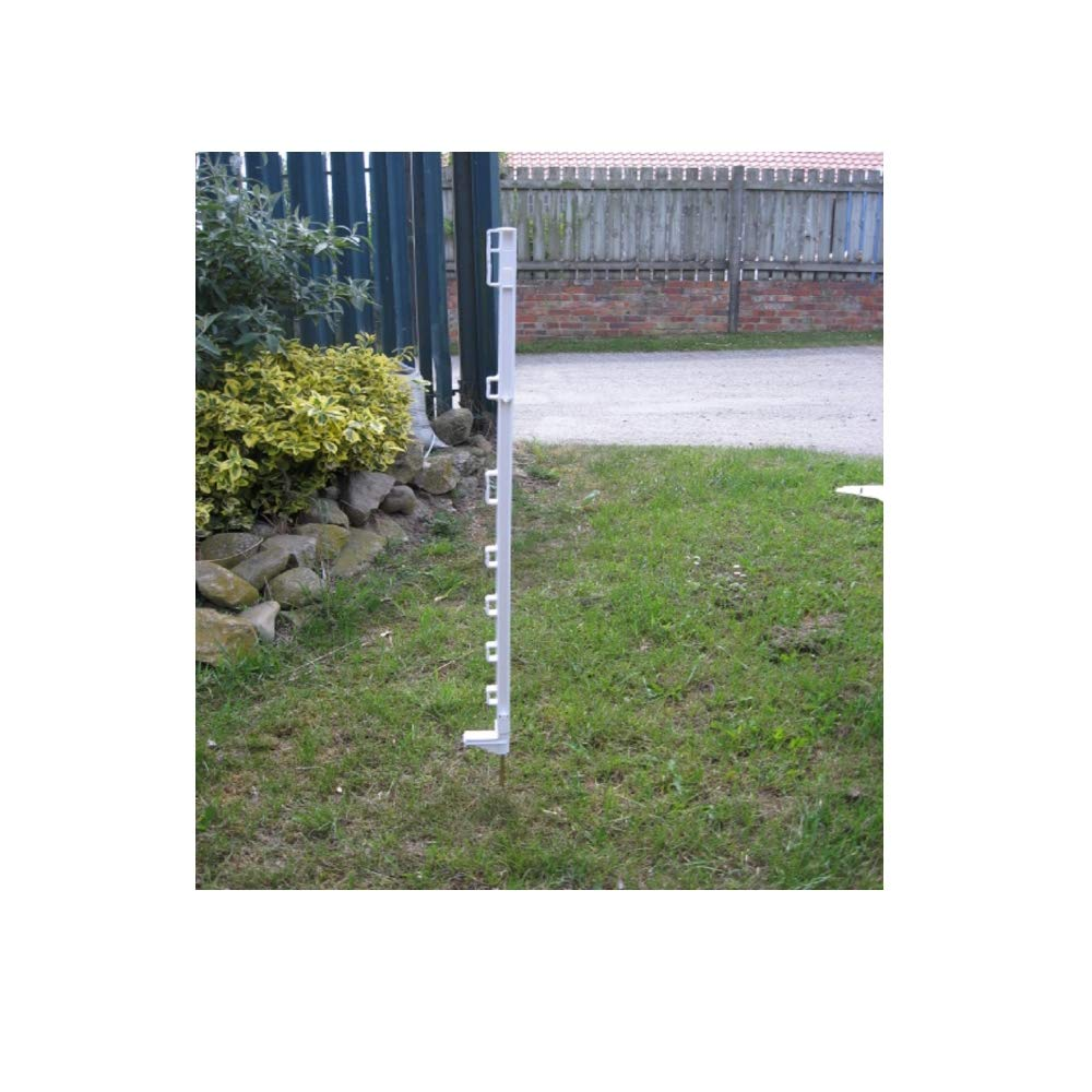 40 Ivisons WHITE 3FT POLY POSTS 1060 DEALS ELECTRIC FENCE POST PADDOCK HORSE PONY (40)