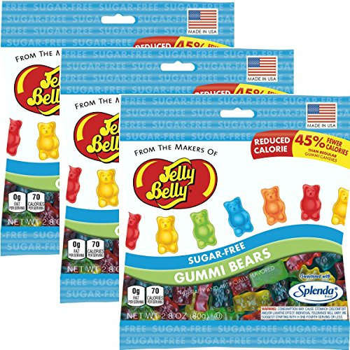 Jelly Belly Sugar-Free Gummi Bears (Pack of 3)