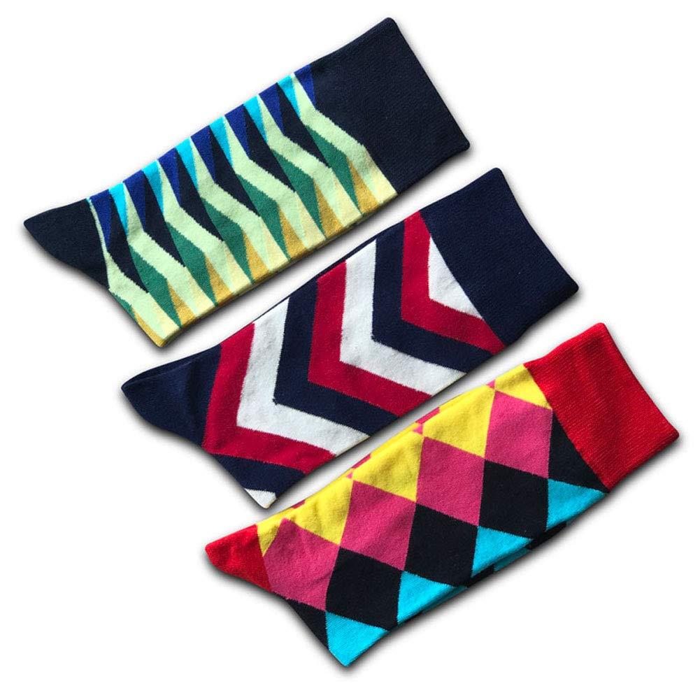 AiLike Fashion Cartoon Funky Cotton Dress Socks Argyle Socks for Men