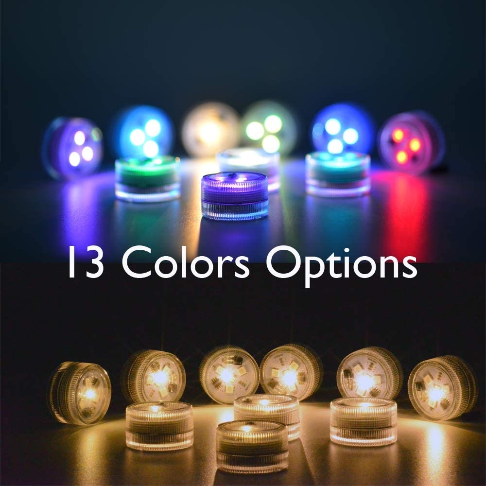 Paper Lantern Lights Battery Operated Remote Hanging Led Lantern Lights with Hook Super Bright RGB White Warm White 15 Days Standby, 36 hours Constant On for Lantern Tent Lighting(10 lights+2 remotes) - -