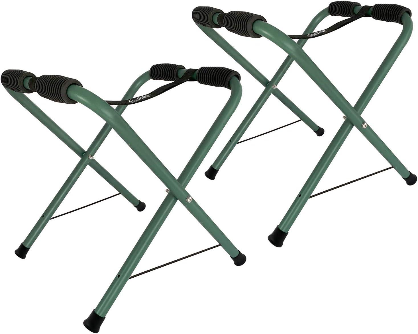 Codinter Kayak Stand, Aluminum Standing Rack for Canoe Boat Surfboard Indoor Outdoor Portable Storage - Green