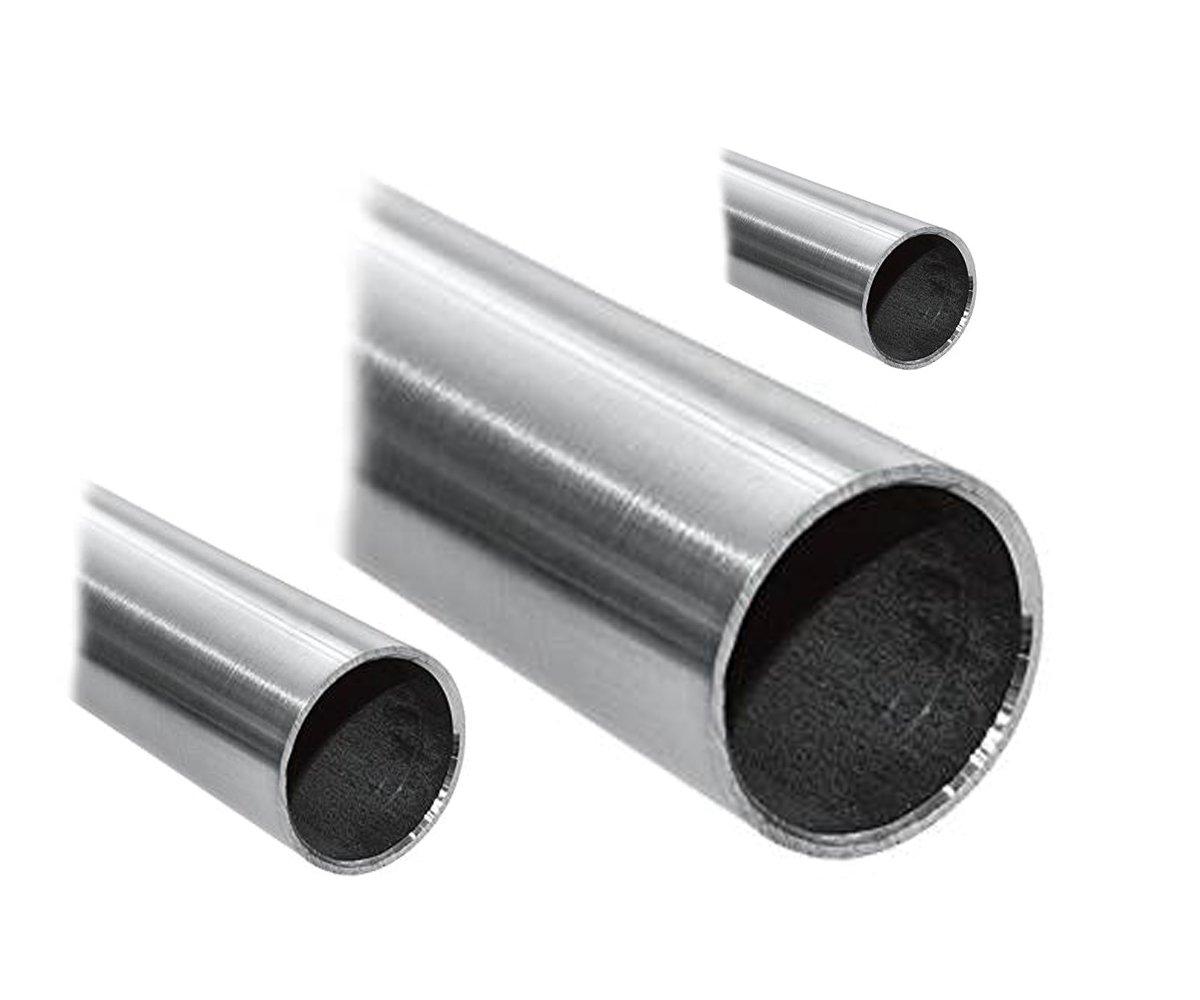 Tubo de acero inoxidable V2A, redondo, tubo para barandilla ...