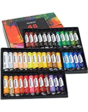 MEEDEN Acrylic Paint Set 48 Colors(22ml/0.74 oz), Acrylic Paint for Canvas, Crafts, Wood Painting - Non Toxic Non Fading,Rich Pigments Acrylic Color for Kids, Students, Adults