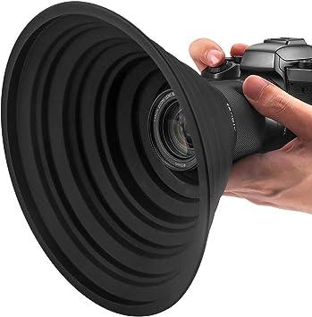 レンズフード 忍者フード 夜景撮影 窓ガラスの映り込みを防止 簡単装着 一眼レフ 望遠レンズ 動画撮影 柔軟性 水洗い fenglv