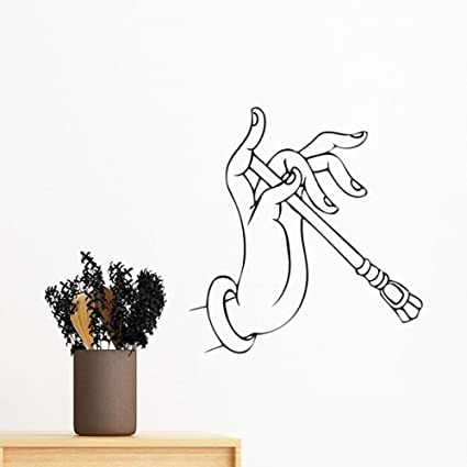 Buy Diythinker Buddhism Religion Buddhist Hand Stick Line Drawing Simple Illustration Pattern Removable Wall Sticker Art Decals Mural Diy Wallpaper For Room Decal 60cm Multi Online At Low Prices In India