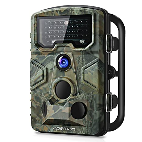 Apeman Wild Cámara con Detector de Movimiento 1080P 12 MP Gran Angular de 120 ° Visión ...