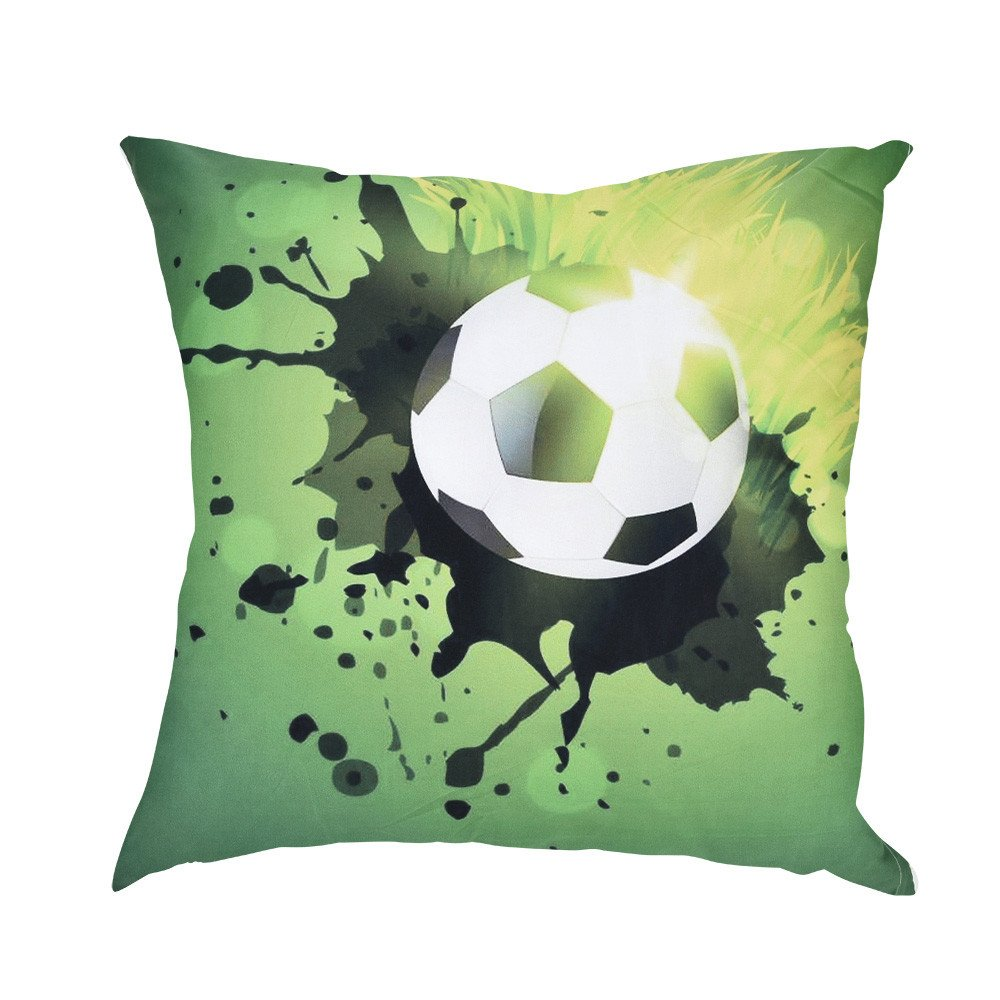2018 Soccer Print Funda De Almohada Poliéster Sofá Coche ...
