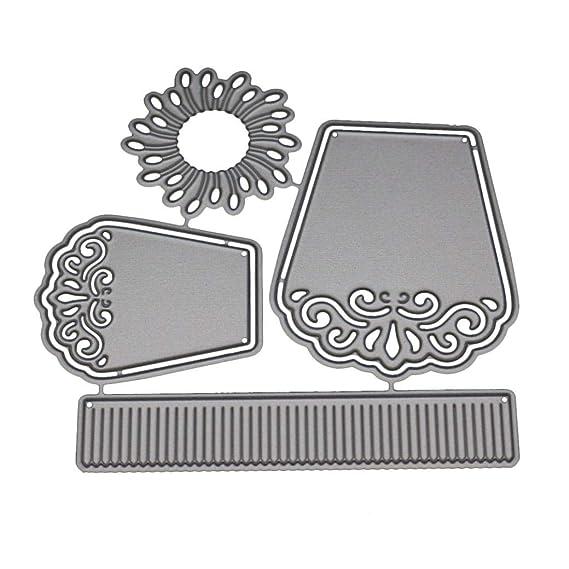 JiaMeng Troqueles de Corte de Metal Acero Corazón de la Flor Plantillas de Troqueles de Corte de Metal DIY Scrapbooking Album Paper Card (A): Amazon.es: ...