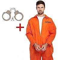 Orange Prison Overall Prisoner Convict Jail Fancy Dress (disfraz)