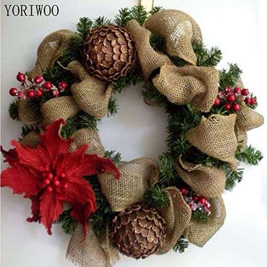 Tyro YORIWOOO - Cinta de yute de 5 cm para decoración de centros ...