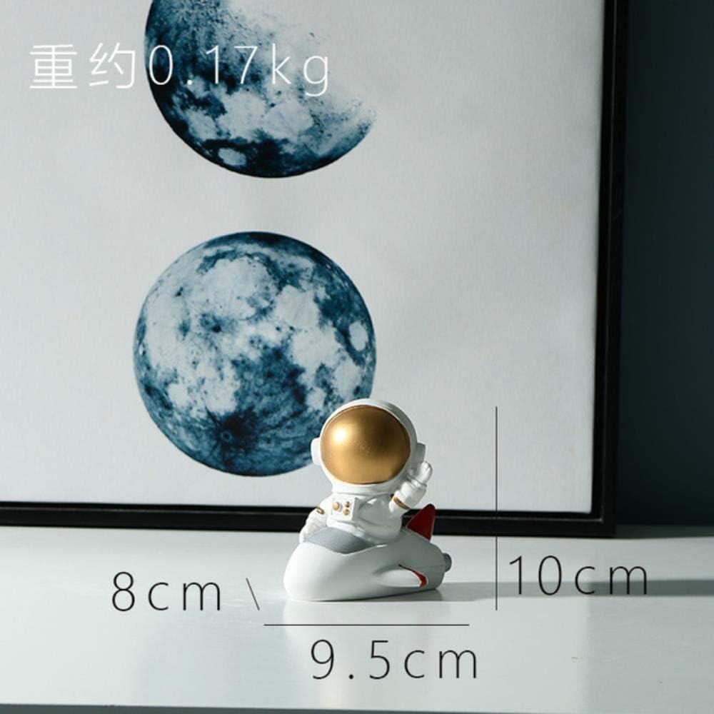 Statuine Soprammobili Regalo Decorazioni per La Stanza dei Bambini Resina Astronauta Ornamento Resina Astronauta Figurine Decor per Il Neonato Decorazioni per La Camera dei Bambini Soggiorno Decor,Mo