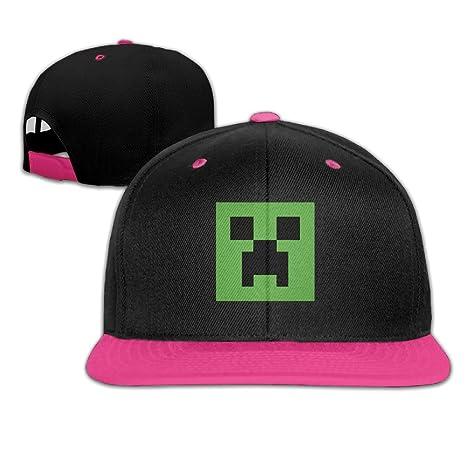 91644d23ccf Minecraft Creeper Logo Snapback Hip Hop Baseball Caps Pink (5 Colors)   Amazon.ca  Clothing   Accessories