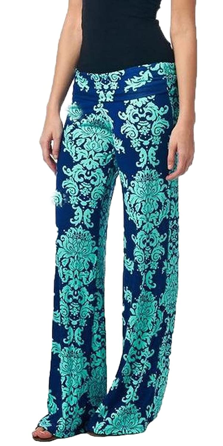 XTX Women's Tribal Pattern Printed Fashion Wide Leg Pants