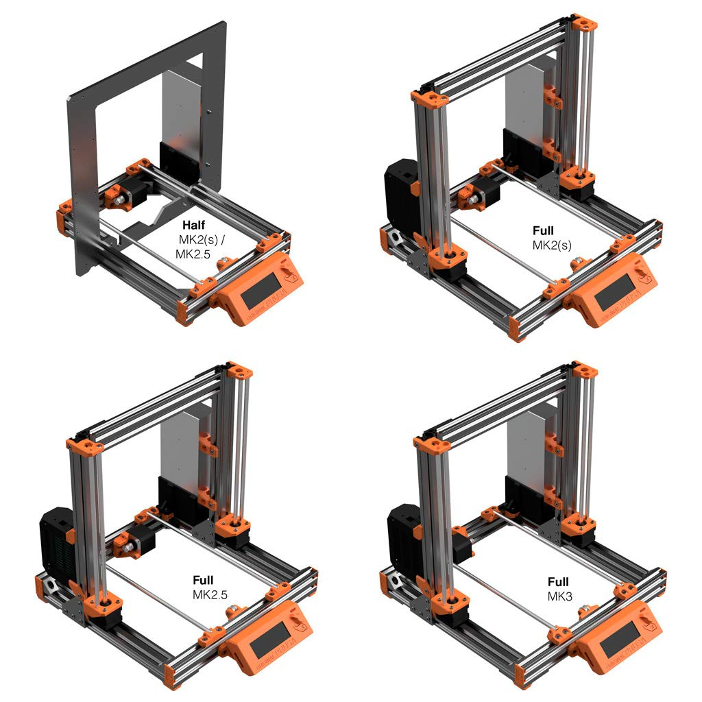 Prusa i3 MK2 MK2S MK2.5 Half Bear Upgrade Printed Parts in PETG Multi-color