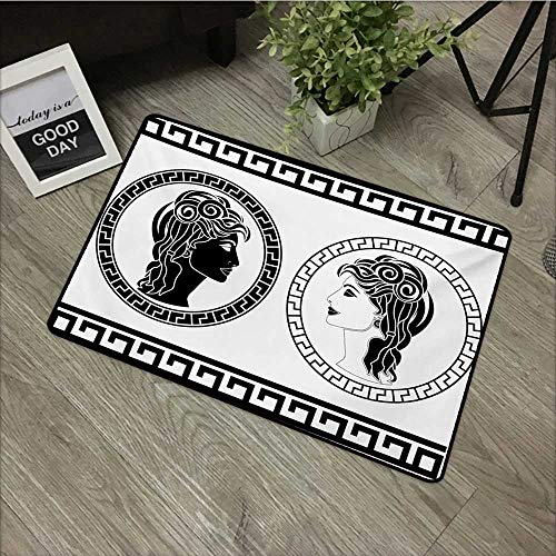 Anzhutwelve Toga Party,Christmas Doormat Roman Aristocrat Woman Profiles Circular Classical Frames Hairstyle Beauty W 20