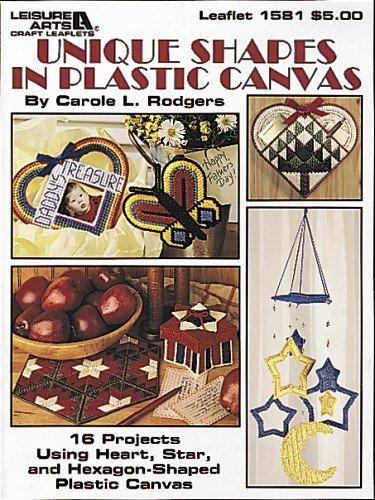 Unique Shapes In Plastic Canvas  (Leisure Arts #1581) (Leisure Arts Craft Leaflets)