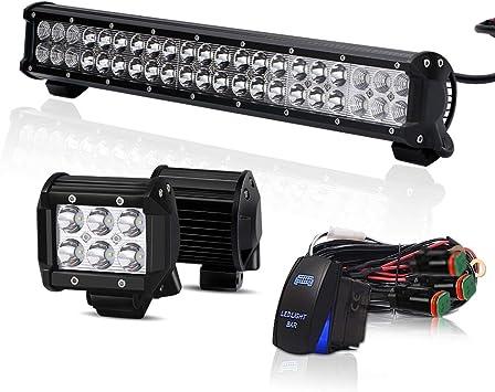2X LED Arbeitsscheinwerfer Offroad Scheinwerfer Traktor Bagger SUV für Jeep etc,