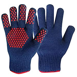 MIGLIOREU Mig4U BBQ Gloves - Grilling Cooking Heat Resistant Oven gloves - 1 Pair - Frying & Baking -Professional Indoor Outdoor Accessories Silicone holder (10)