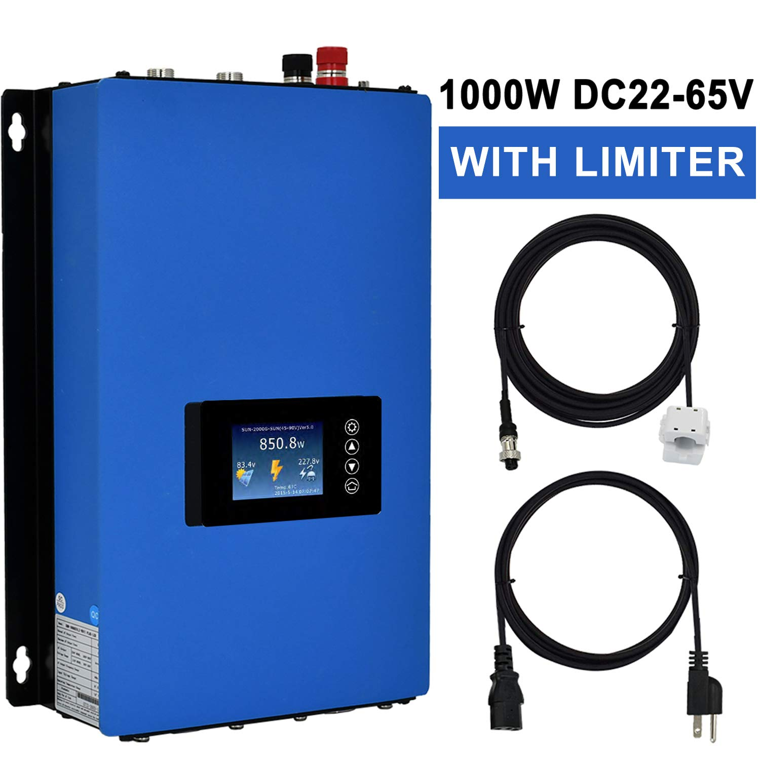 ECO-WORTHY Solar On-Grid Tied Micro Inverter Power Limiter MPPT PV System DC To AC (600W DC24V)