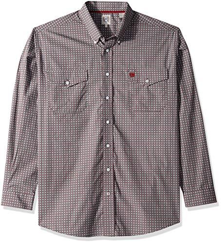 Cinch Mens Classic Fit Long Sleeve Button Two Flap Pocket Print Shirt