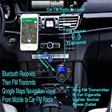 8-In-1-T10-Wireless-In-Car-Bluetooth-FM-Transmitter-for-Car-With-144-Inch-Display-USB-Charger-MP3-Player-Transmits-TF-Card-Aux-In-iPhone-Samsung-Pixels-Music-Call-Google-Navigation-To-Car-Speaker