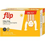 Flip Organic Day Time Inserts - Made with 100% Organic Cotton - 3 Pack