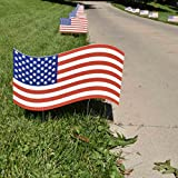 Cheap VictoryStore Yard Sign Outdoor Lawn Decorations: Fourth of July – Flag Pathway Markers – Corrugated Plastic Flags – Patriotic Yard Decorations – 18 Count